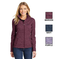 PORT AUTHORITY LADIES' DIGI STRIPE FLEECE JACKET
